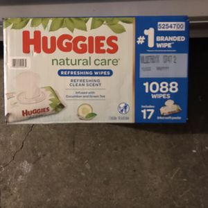 Huggies Natural Care Cucumber & Green Tea Baby Wipes for Sale in Huntington Beach, CA