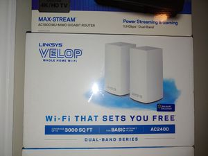 Linksys AC2400 wireless router mesh system for Sale in Rockville, MD