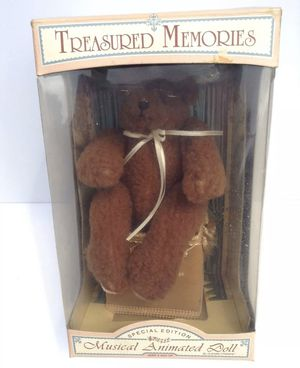 Treasured Memories Special Edition Musical Animated Teddy Bear Plays Love story for Sale in Stafford, TX