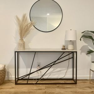 Faux Marble Console Table for Sale in Boring, OR