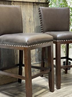 """TWO 24"""" Millwright Counter Stools. MSRP $430. Our price $160 + sales tax for Sale in Woodstock,  GA"""