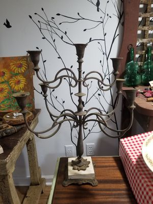Antique farm fresh, straight out of barn. Brass candelabra with marble base. for Sale in Zion Crossroads, VA