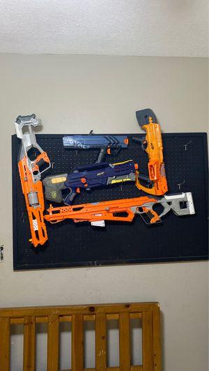 Nerf peg board and guns for Sale in Bradenton, FL