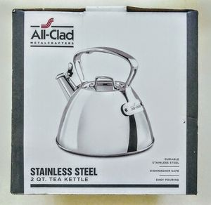 All-Clad Stainless Steel 2qt. Tea Kettle for Sale in Raleigh, NC