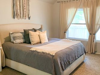 Restoration Hardware Warner Fabric Bed with Nailheads. for Sale in Pflugerville,  TX