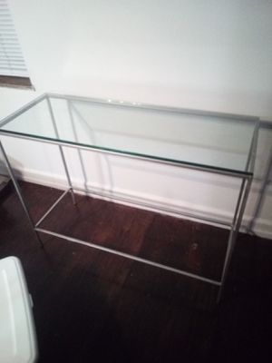 Glass table aluminum frame console table for Sale in Columbus, OH