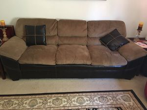 Couch with love set four cushions and two side tables for Sale in Silver Spring, MD