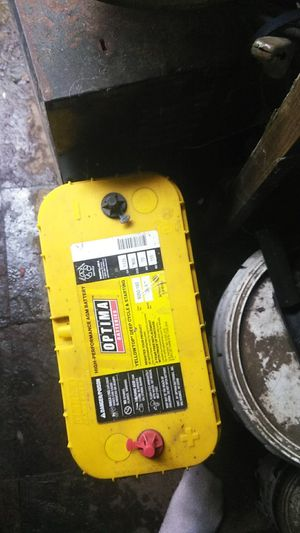Optima heavy-duty gel cap yellow top for Sale in Modesto, CA