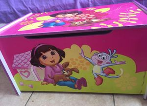 TOY BOX FOR KIDS AND TODDLERS BOX LIKE NEW DORA TOYBOX! for Sale in Opa-locka, FL