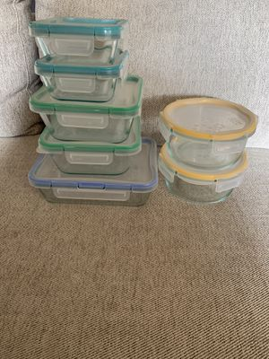 PYREX (27 pieces) Glass Freshlock Food Storage Set for Sale in Covina, CA