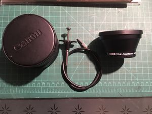 Canon Tele Converter Lenses with case and Shutter release cord for Sale in Richmond, CA