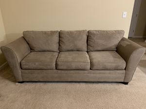 Bauhaus Sleeper Micro Suede Sofa for Sale in Vancouver, WA