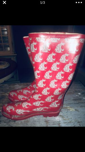 WSU University rain boots Sz 11 great Condition for Sale in Graham, WA