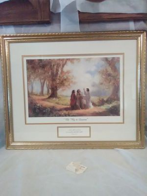 The way to Emmans religious picture in beautiful gold frame for Sale in Wichita, KS
