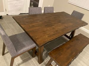 New!! 6Pcs Solid Wood Dining Set•Same Day Delivery•We Set Up 🚚 •Apply from your phone 📲 for Sale in Las Vegas, NV