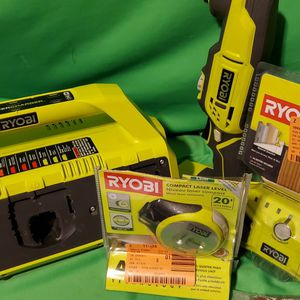 RYOBI BUNDLE CORDLESS MULTI TOOL & AIRGRIP & 6 PORT CHARGER for Sale in Beaumont, CA