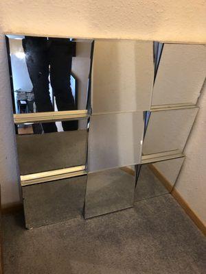 Great alternating multi panel squared huge mirror / needs minor repair for Sale in Seattle, WA