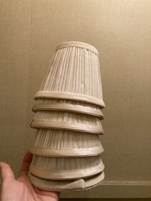 Six small lamp shades for Sale in Hinsdale, IL