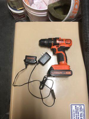 Black & decker 20v cordless drill for Sale in Las Vegas, NV