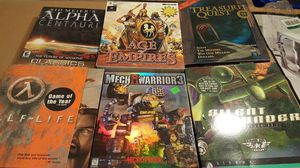 Assorted Lot Of 6 Vintage PC Video Games From The 90's for Sale in Chandler, AZ