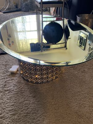 Light up coffee table oval for Sale in Groveport, OH