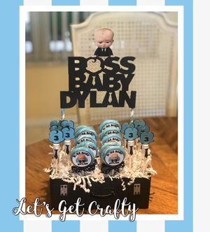 Boss Baby Favor Display lollipops and Bubbles for Sale in Miami Gardens, FL