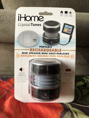 iHome Crystal tunes mini Speaker but powerful. For Android only no Bluetooth for Sale in Coral Springs, FL