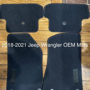 2018-2021 Jeep Wrangler Floor Mats Oem NEW for Sale in Anaheim, CA
