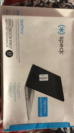 Speck Products See Thru Onyx Case for Macbook Pro 13 Inch with Retina Display, for Sale in Fresno, CA