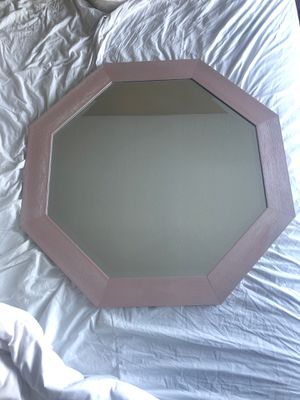 Light pale pink wall mirror for Sale in Nashville, TN