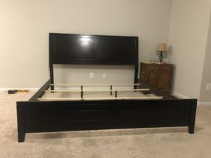 King size bed frame for Sale in Hampstead, NC