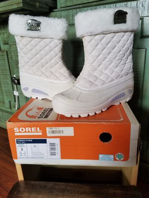 JUST REDUCED! SOREL WINTER RAIN SNOW BOOTS SIZE 3 YOUTH GIRLS for Sale in Wahiawa, HI
