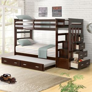 Bunk Bed With Stairs, Storage And Two Twin Mattresses for Sale in Portland, OR