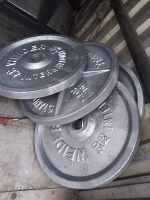 2 44lb and 2 45lb weights both Olympic size one price for Sale in Elmhurst, IL