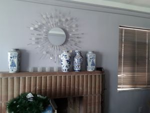 Wall mirror/ vases for Sale in Detroit, MI