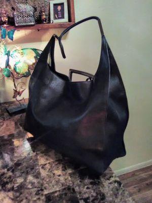 Gucci Vintage Black Leather Large Hobo Shoulder Bag Tote Purse for Sale in Phoenix, AZ