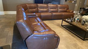 Genuine Leather Sectional for Sale in Fresno, CA