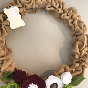 16 inch Burlap Wreath for Sale in St. Augustine, FL