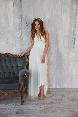 Bohemian bridal dress, White boho wedding dress for Sale in ROWLAND HGHTS, CA