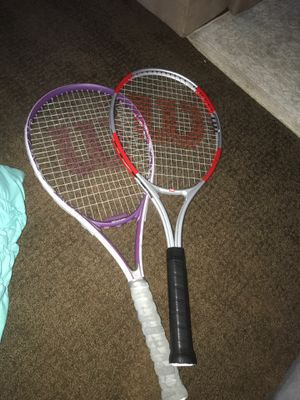 2 Wilson tennis rackets for Sale in Kings Park, NY