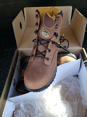 Men size 9 1/2 steel toe Georgia work boots for Sale in Wood Dale, IL