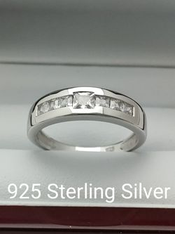 New with tag Solid 925 Sterling Silver MEN'S WEDDING Ring size 9/10 or 12 $125 OR BEST OFFER ** FREE DELIVERY!!! 📦🚚 ** for Sale in Phoenix,  AZ