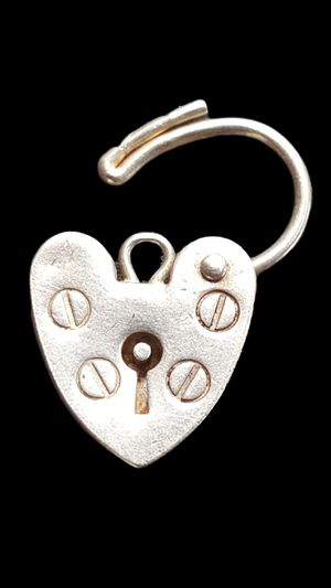 Heart Shaped Pad Lock for Charm Bracelet (Sterling Silver) - Made in London, United Kingdom (UK) Prior to 1975 Year for Sale in Compton, CA