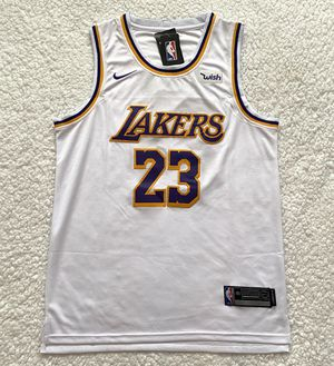 LeBron James Los Angeles Lakers NBA Jersey - Brand New - Men's - Nike 2019 / 2020 Away White Basketball Jersey - Size M / L / XL for Sale in Chicago, IL