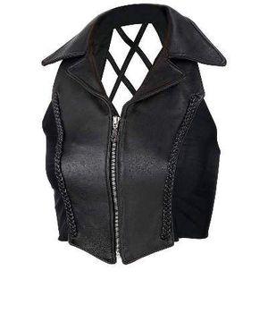 Leather Lattice motorcycle vest. for Sale in Boca Raton, FL
