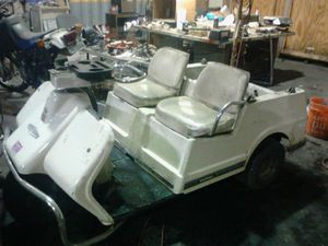 Golf cart Harley-Davidson 3 wheelers one electric one gas both run I have battery charger for electric for Sale in Hayward, CA