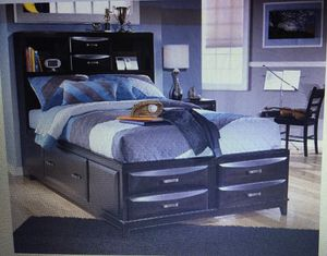 Full Size Captains Bed ( Pic taken from Ashley Furnitures Website-Bed is in Storage) Mattress and Box Spring NOT included for Sale in Highland, CA