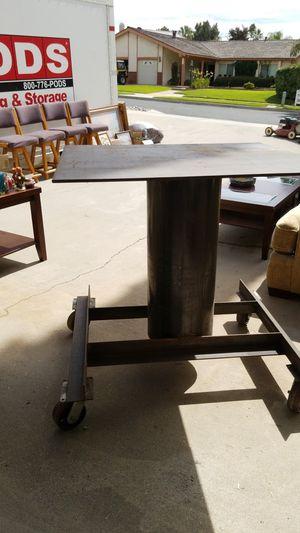 Heavy duty rolling metal table for Sale in Redlands, CA