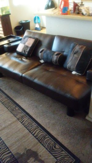 Black cherry futon with cup holder for Sale in Las Vegas, NV