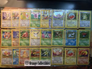 Pokemon Card Jungle Set Incomplete Set English 54/64 - 6 Holos - 15 Non-Holo Rares Binder Pages Checklist OBO for Sale in Anaheim, CA